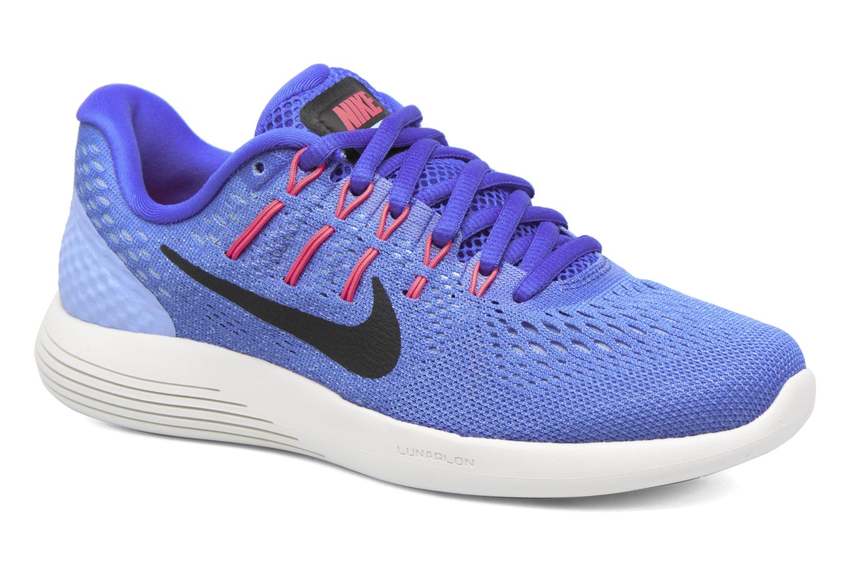 Wmns Nike Lunarglide 8 Medium Blue/Black-Aluminum-Hot Punch