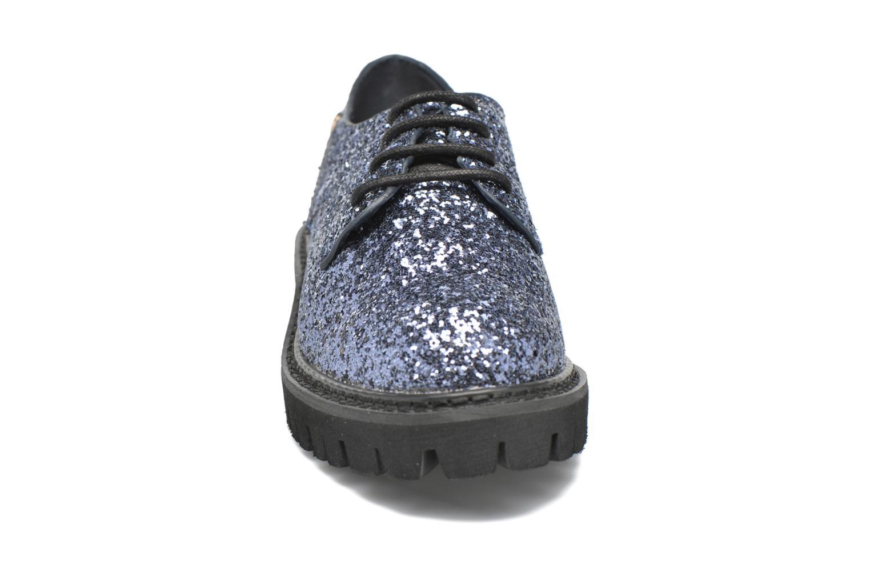 Schnürschuhe Xti Paillettes-30324 blau schuhe getragen