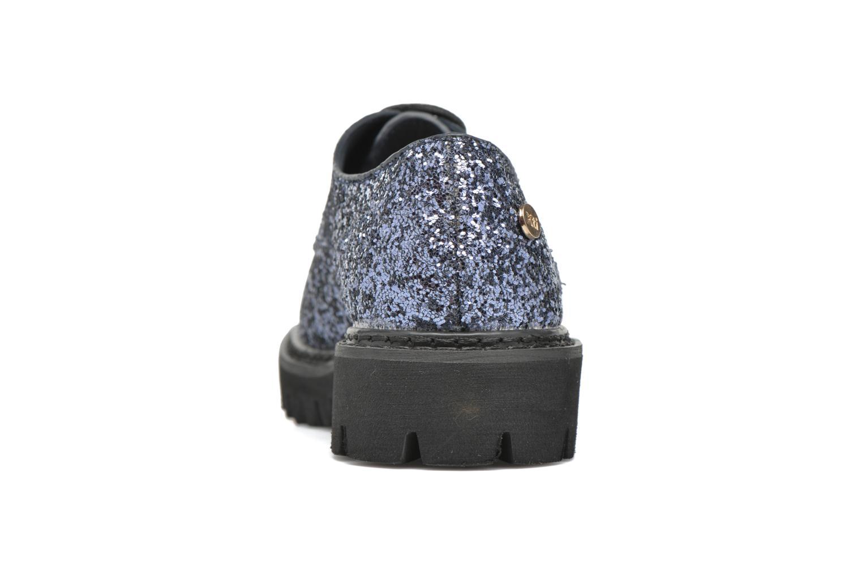Zapatos con cordones Xti Paillettes-30324 Azul vista lateral derecha