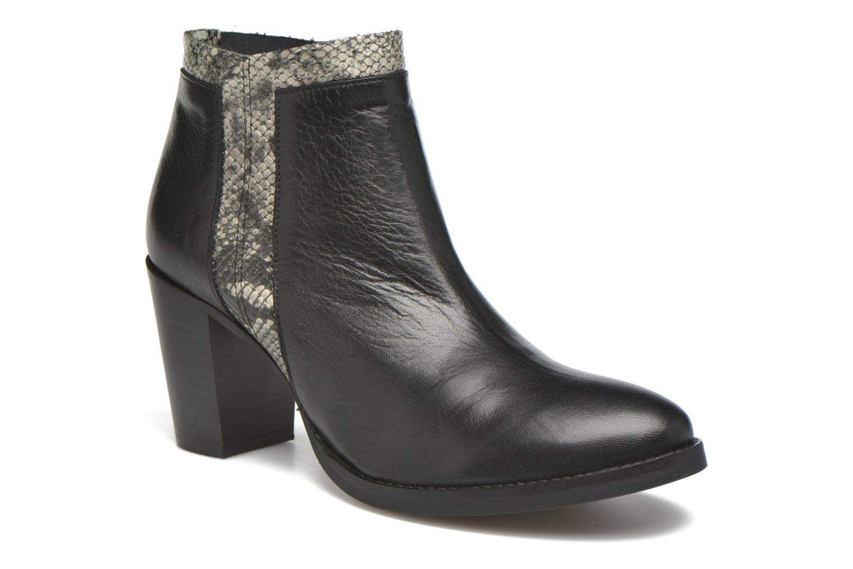 Ankle boots Georgia Rose Gaté Black detailed view/ Pair view