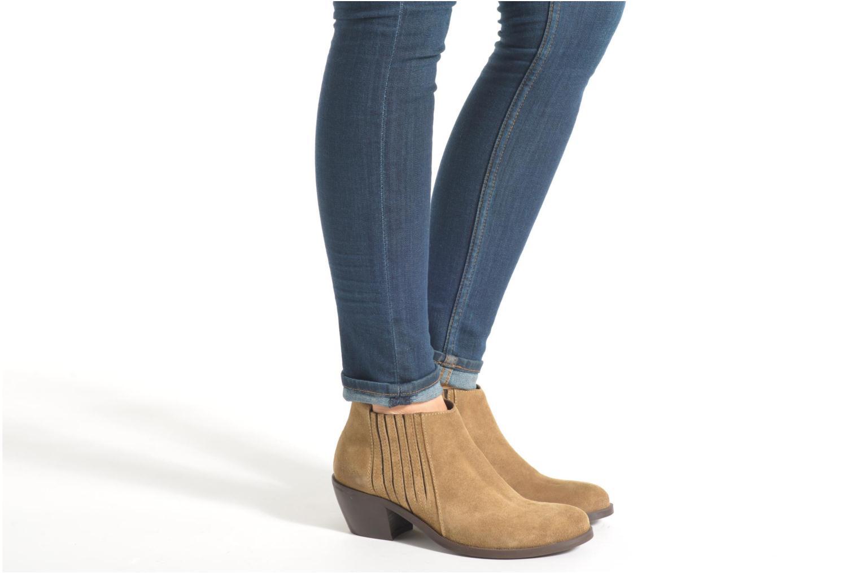 Bottines et boots Georgia Rose Matiag Noir vue bas / vue portée sac
