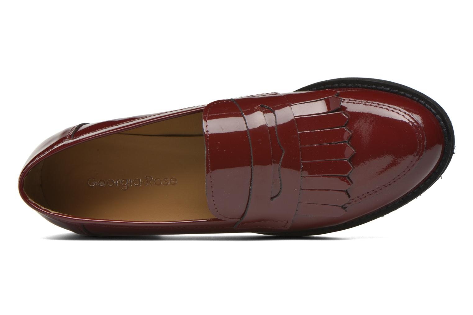 Loafers Georgia Rose Mamoc Burgundy view from the left