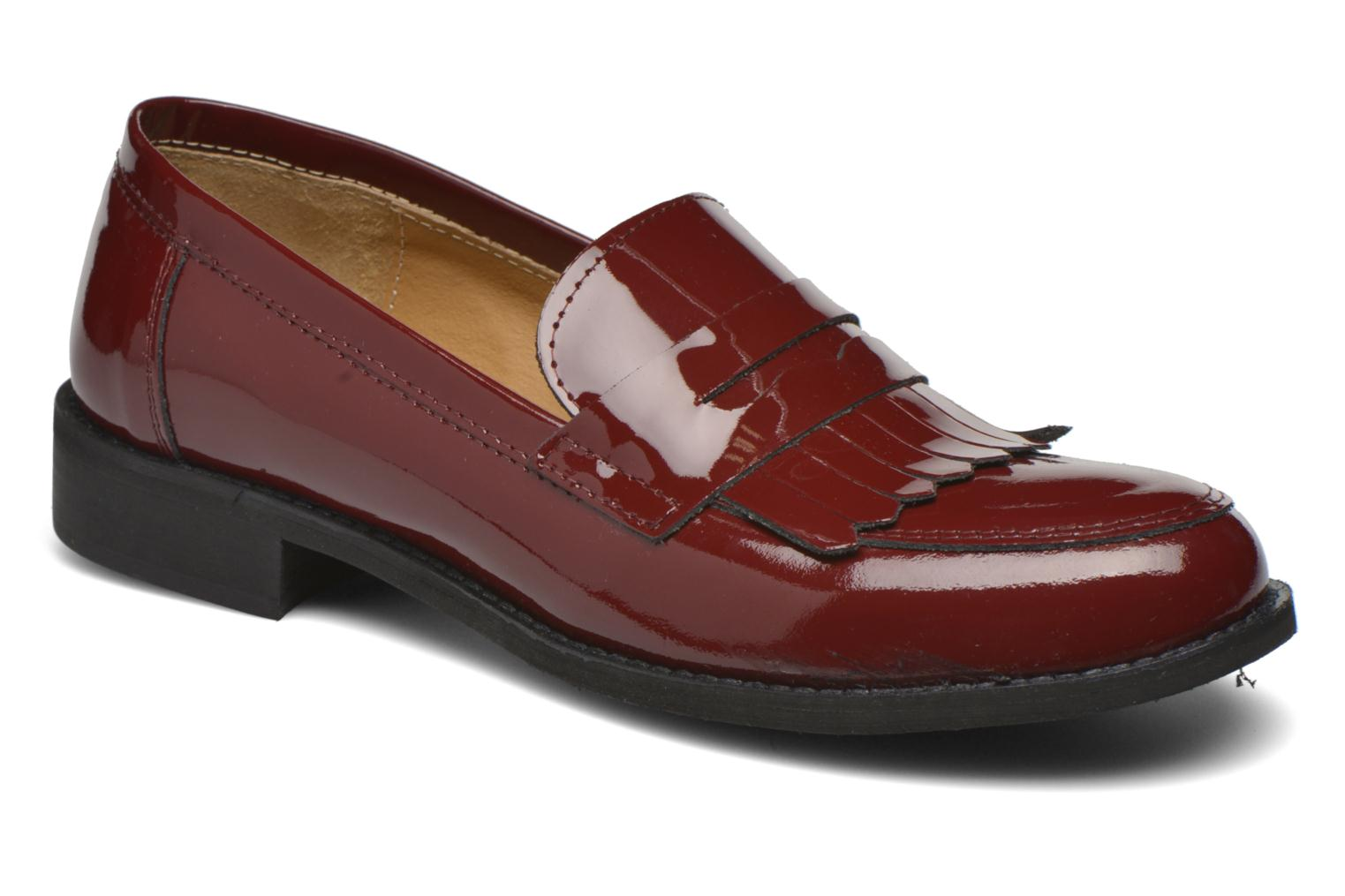 Loafers Georgia Rose Mamoc Burgundy detailed view/ Pair view