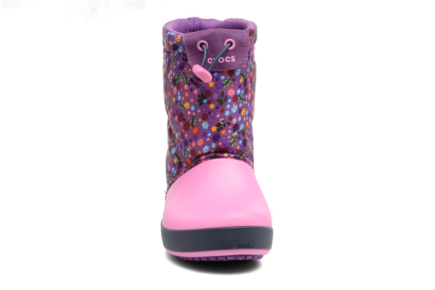 Boots & wellies Crocs Crocband Lodgepoint Graphic K Pink model view