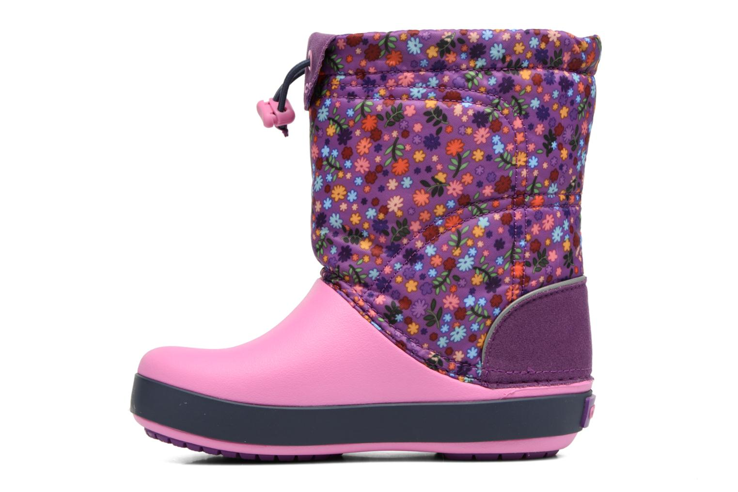 Boots & wellies Crocs Crocband Lodgepoint Graphic K Pink front view