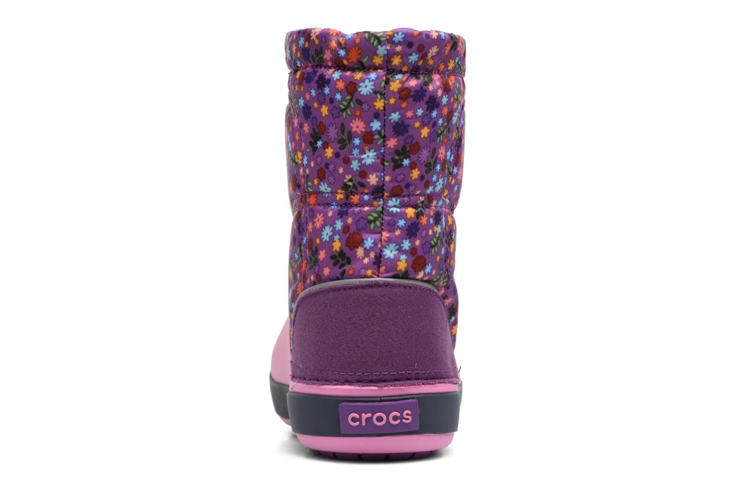 Boots & wellies Crocs Crocband Lodgepoint Graphic K Pink view from the right