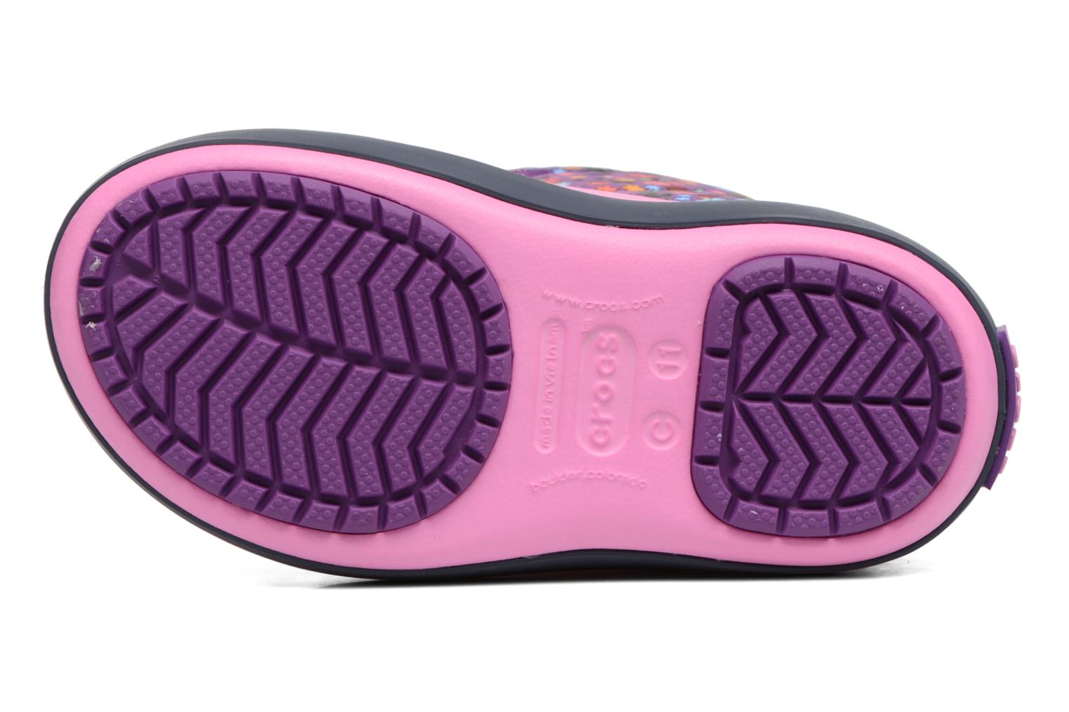 Boots & wellies Crocs Crocband Lodgepoint Graphic K Pink view from above