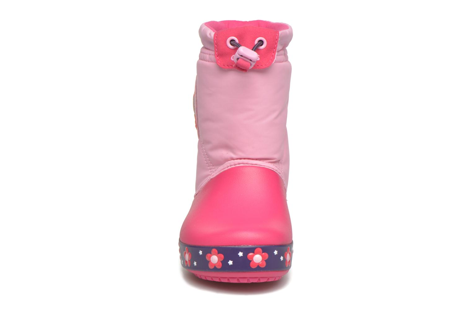 Boots & wellies Crocs Crocslights Lodgepoint Pink model view