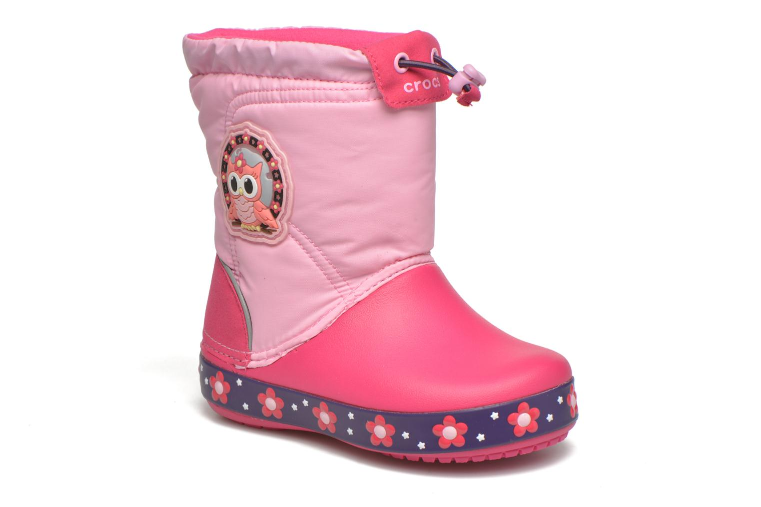 Boots & wellies Crocs Crocslights Lodgepoint Pink detailed view/ Pair view