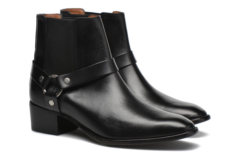 Bottines et boots Frye Dara Harness Chelsea Noir vue 3/4