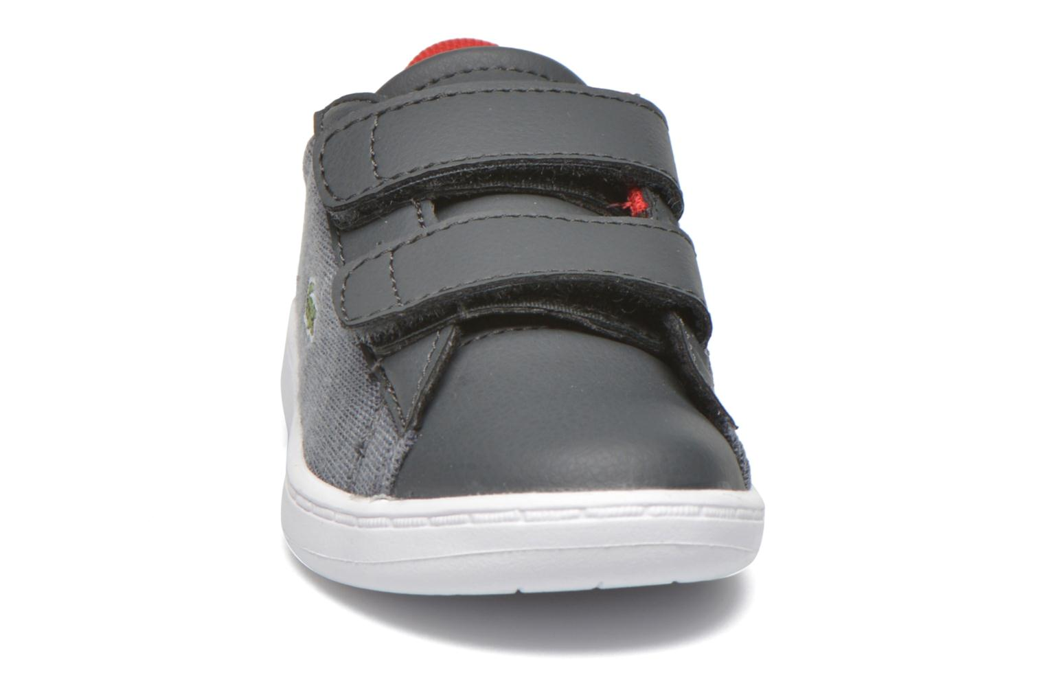 Baskets Lacoste Carnaby Evo 316 3 SPI Gris vue portées chaussures