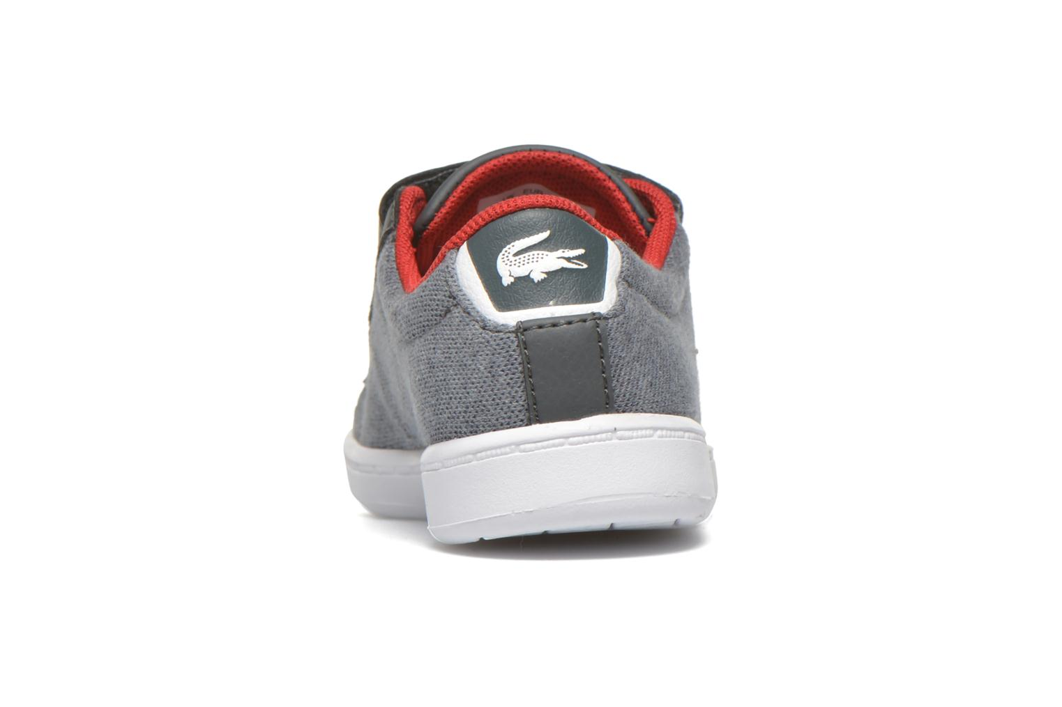Baskets Lacoste Carnaby Evo 316 3 SPI Gris vue droite