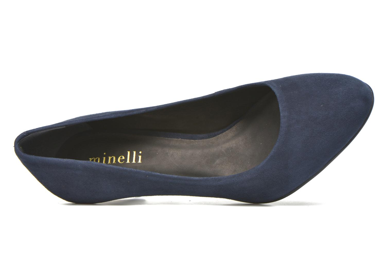 High heels Minelli Volle Blue view from the left