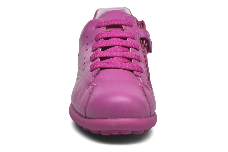 Baskets Camper New Pelotas Rose vue portées chaussures