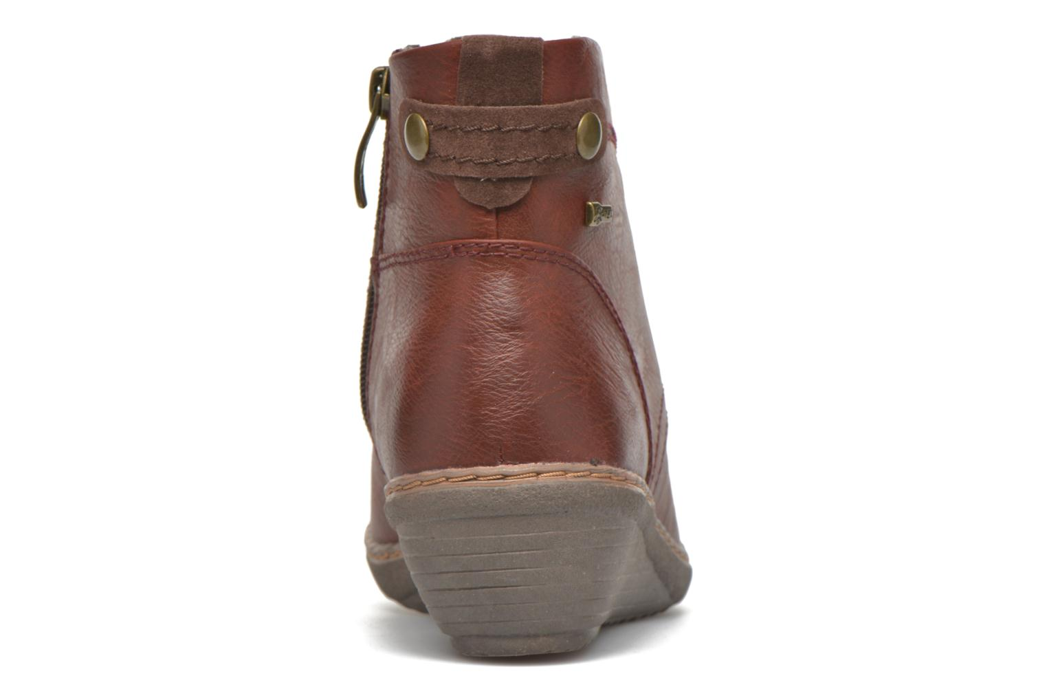 Ankle boots Hush Puppies JULIA Brown view from the right