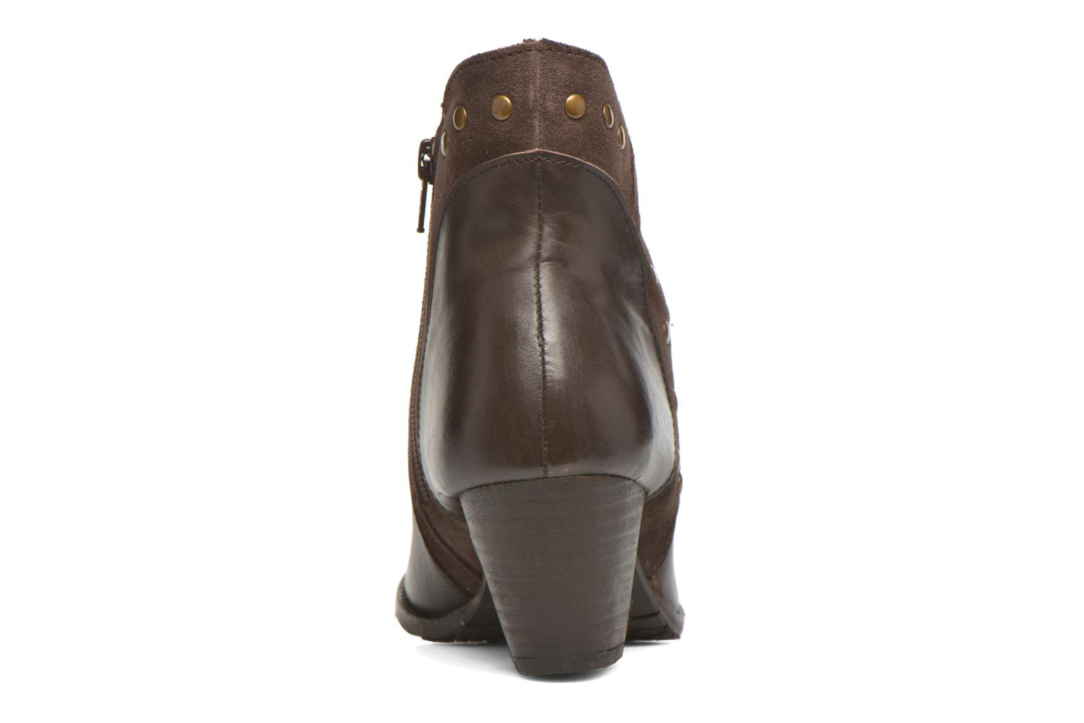 Ankle boots Hush Puppies KRIS Brown view from the right