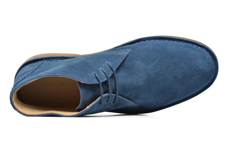 Chaussures à lacets Hush Puppies Lord Bleu vue gauche