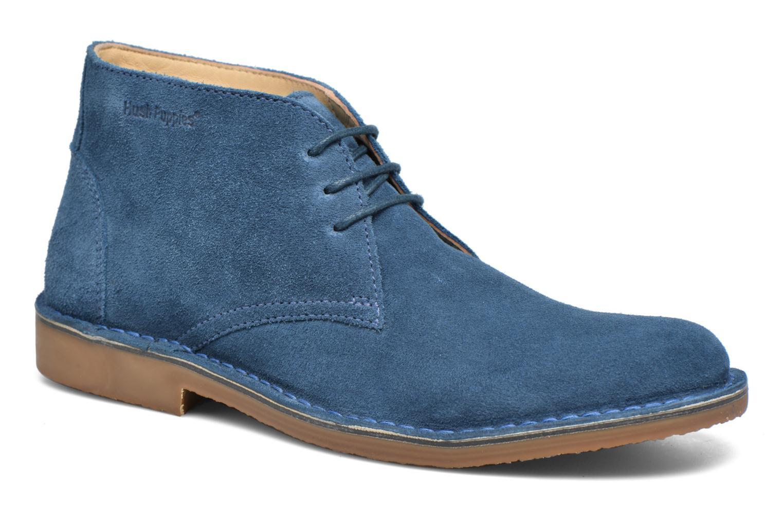 Chaussures à lacets Hush Puppies Lord Bleu vue détail/paire