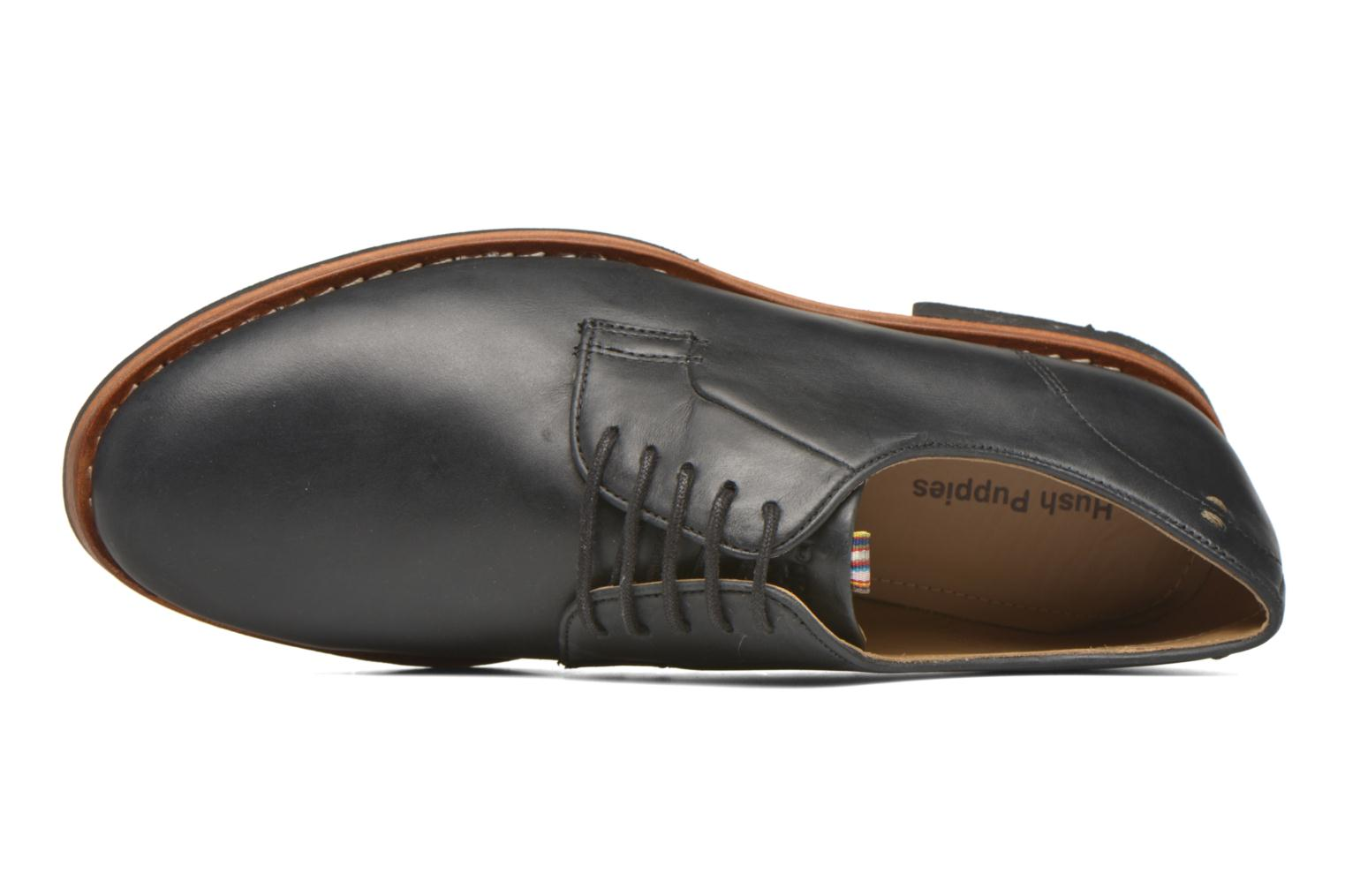 Lace-up shoes Hush Puppies Kurtis Black view from the left