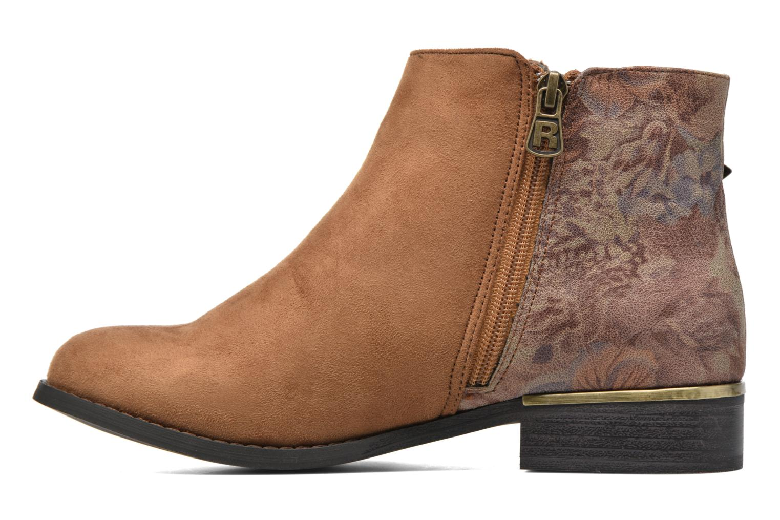 Ankle boots Refresh Marbré 62296 Brown front view