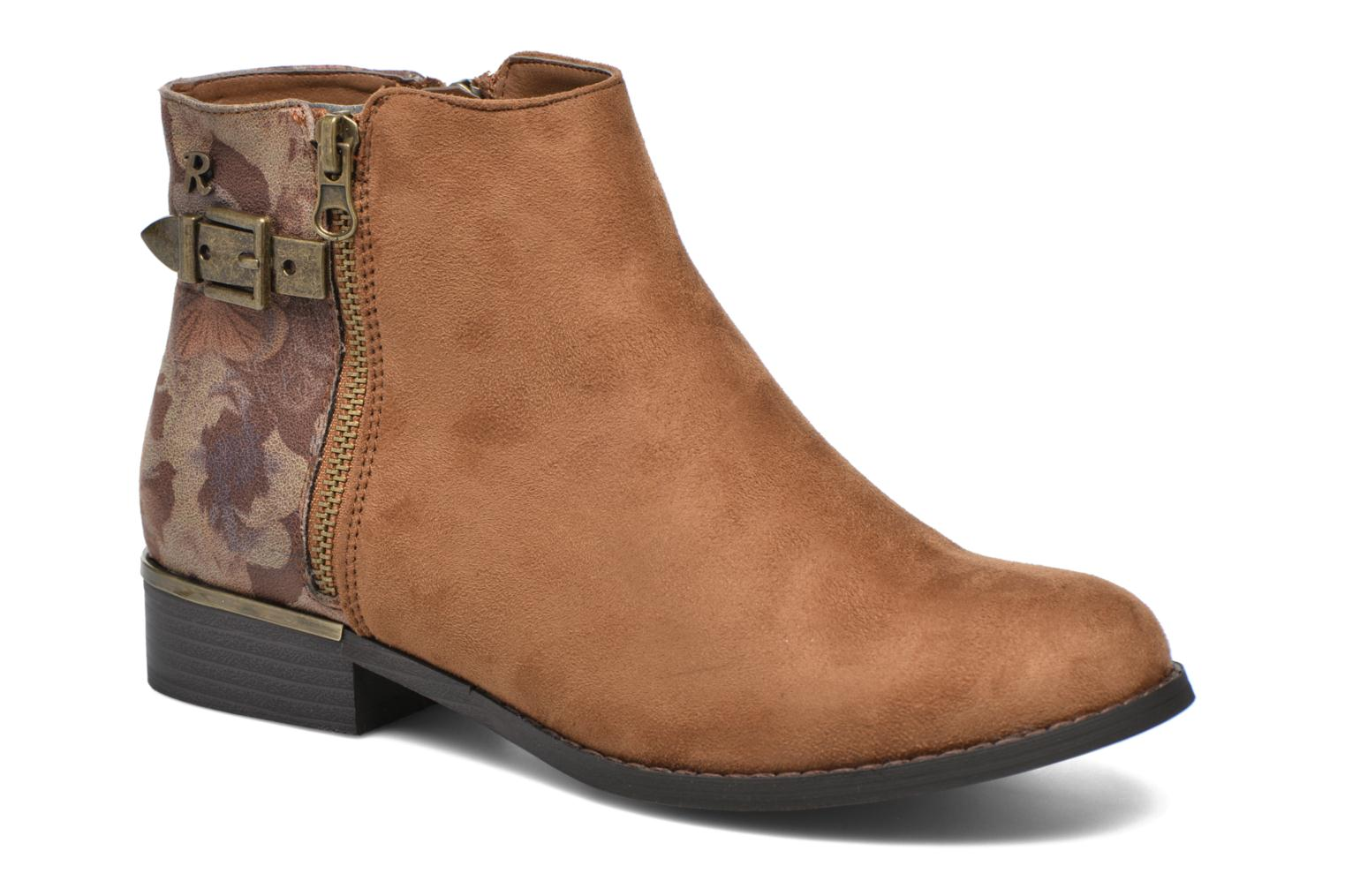 Ankle boots Refresh Marbré 62296 Brown detailed view/ Pair view