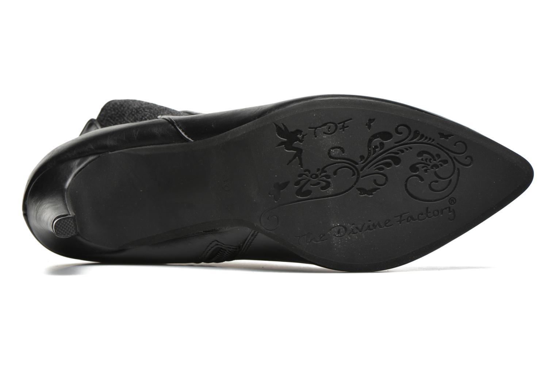 Boots en enkellaarsjes Divine Factory Sandra Zwart boven