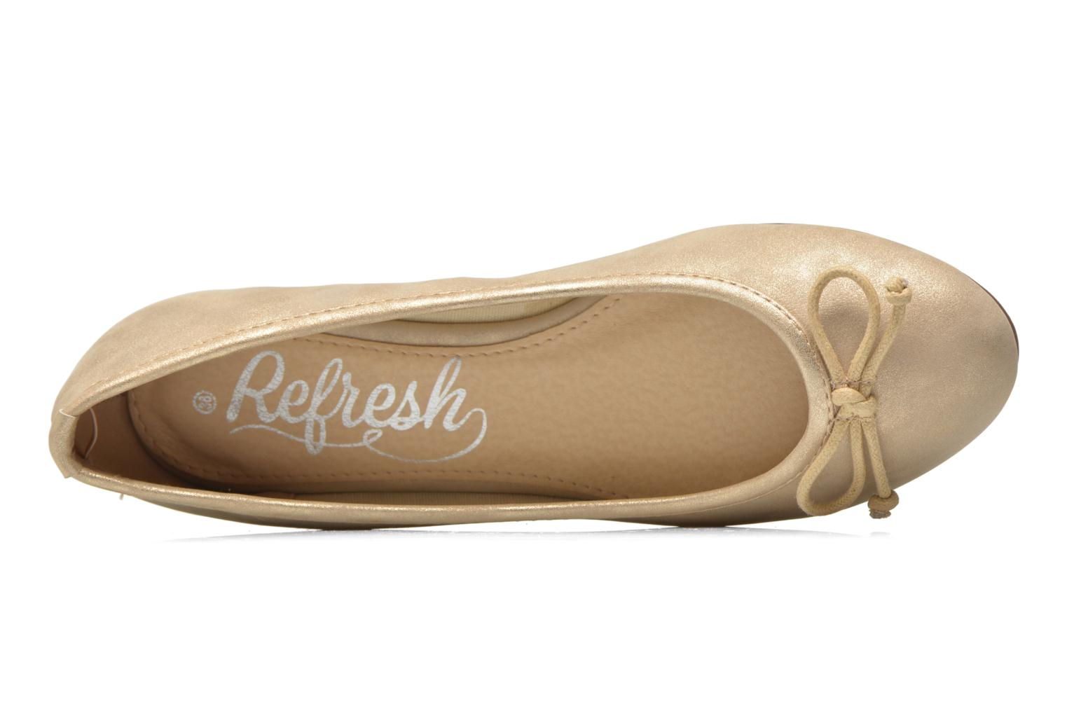 Ballet pumps Refresh Pirinia-62024 Bronze and Gold view from the left