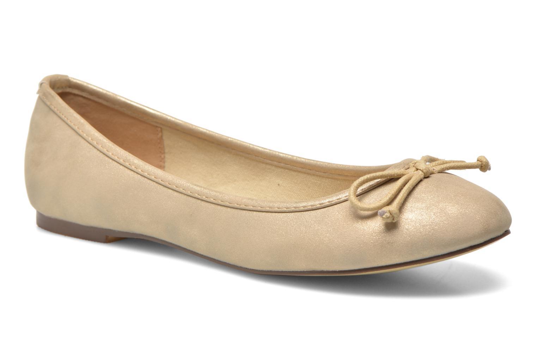 Ballet pumps Refresh Pirinia-62024 Bronze and Gold detailed view/ Pair view