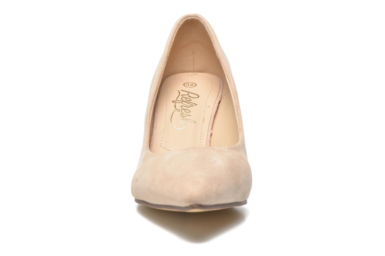 Zapatos de tacón Refresh Coquelina-62054 Beige vista del modelo