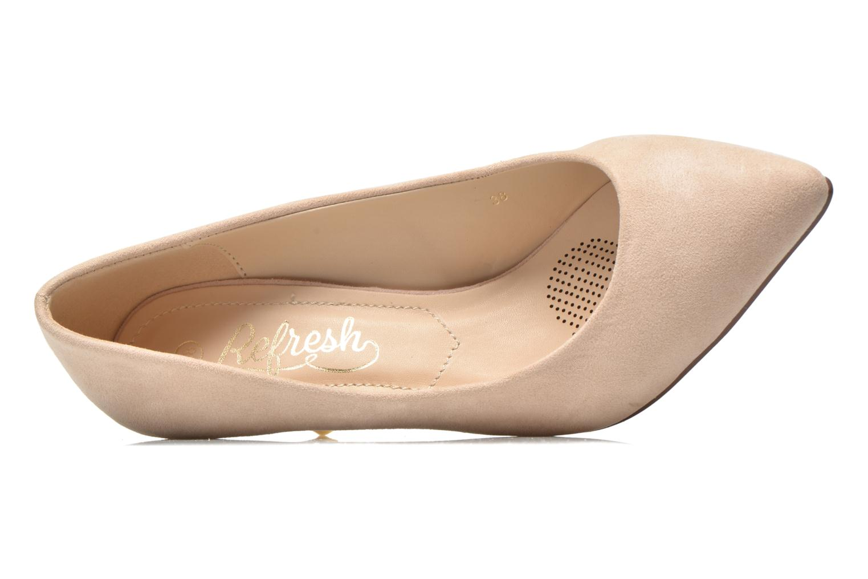 Zapatos de tacón Refresh Coquelina-62054 Beige vista lateral izquierda