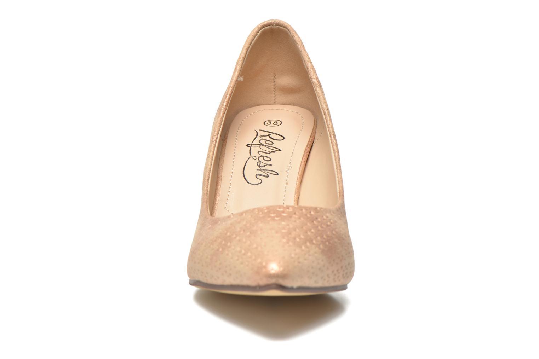 Escarpins Refresh Inidia-62055 Or et bronze vue portées chaussures