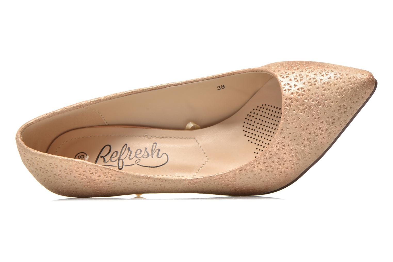 Zapatos de tacón Refresh Inidia-62055 Oro y bronce vista lateral izquierda