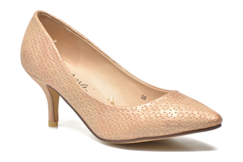 Zapatos de tacón Refresh Inidia-62055 Oro y bronce vista de detalle / par