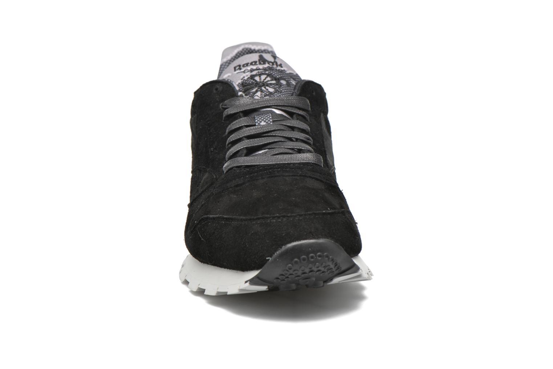 Baskets Reebok Cl Leather Tdc Noir vue portées chaussures