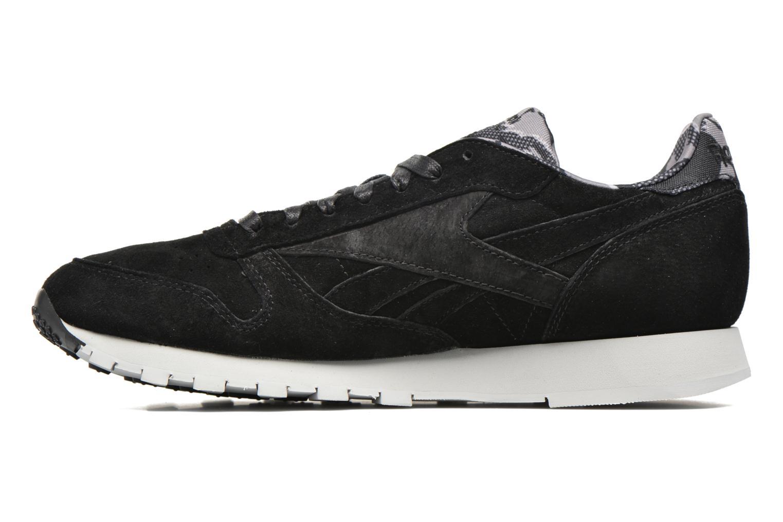 Sneaker Reebok Cl Leather Tdc schwarz ansicht von vorne