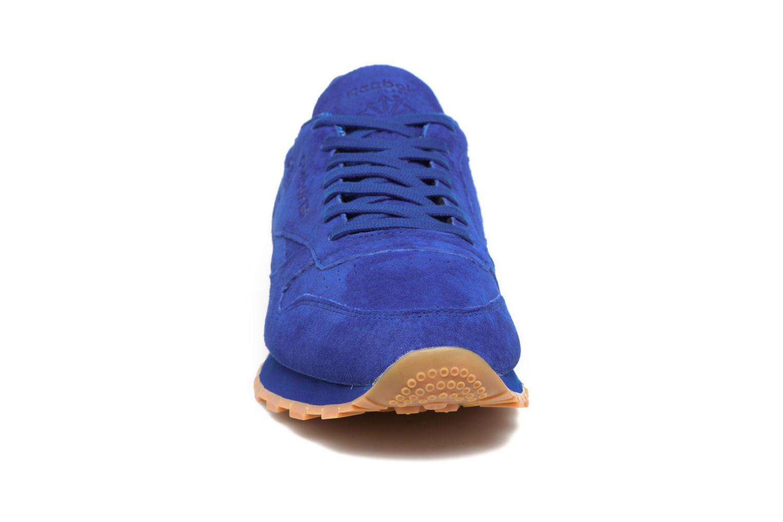 Baskets Reebok Cl Leather Tdc Bleu vue portées chaussures