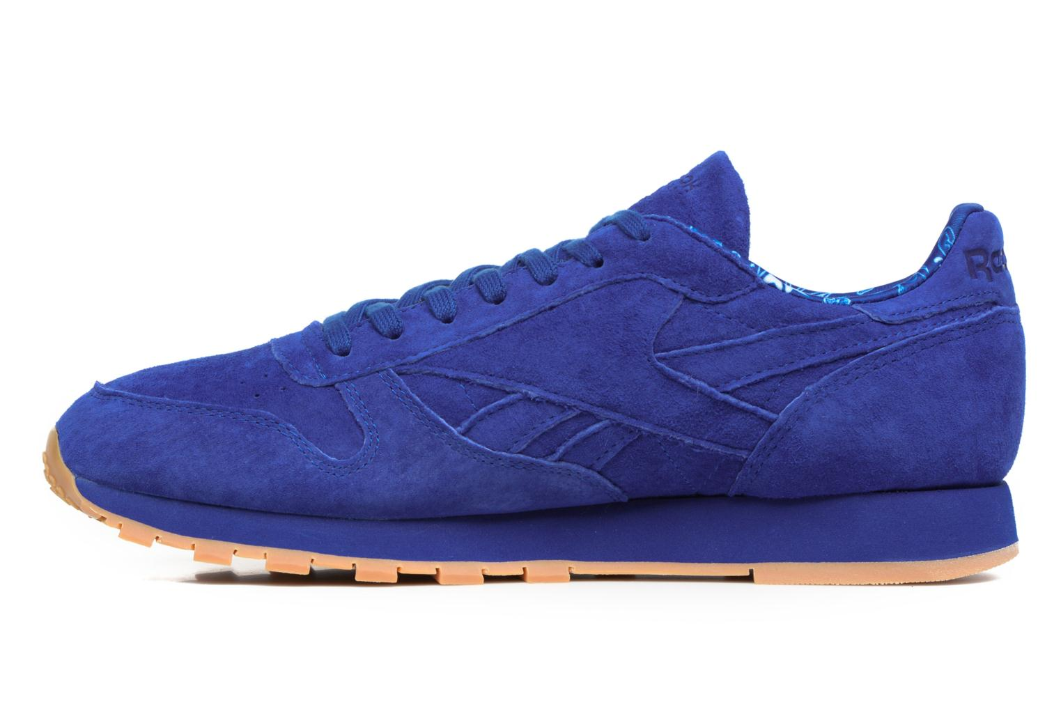 Trainers Reebok Cl Leather Tdc Blue front view