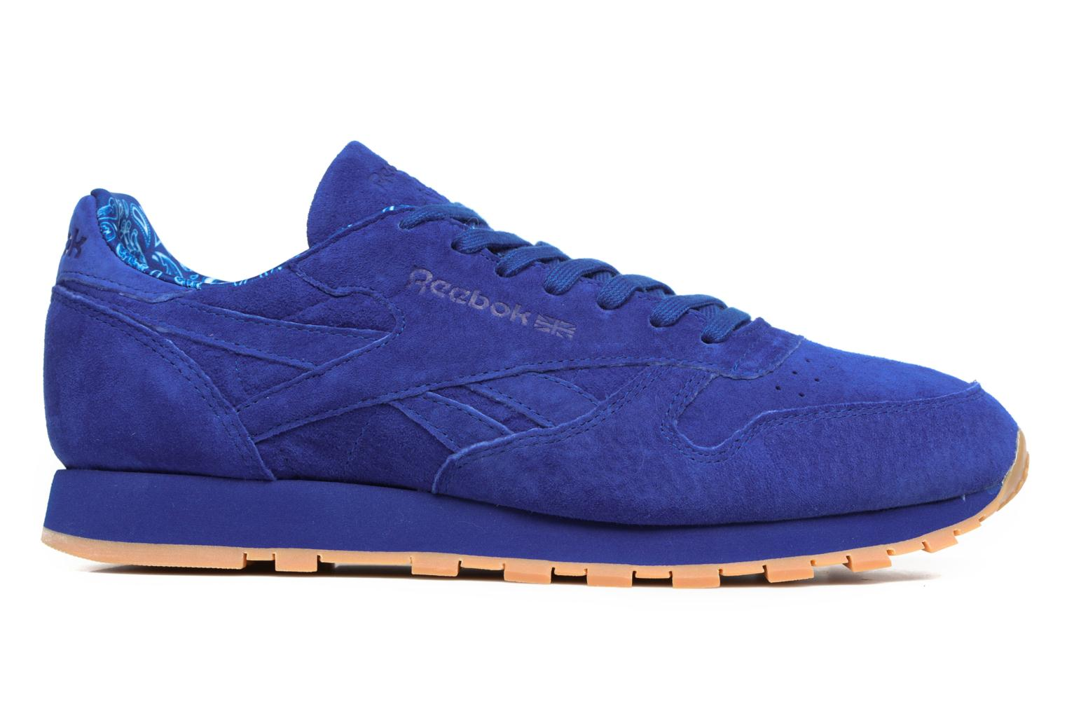 Trainers Reebok Cl Leather Tdc Blue back view
