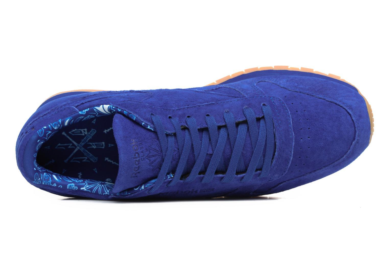 Baskets Reebok Cl Leather Tdc Bleu vue gauche