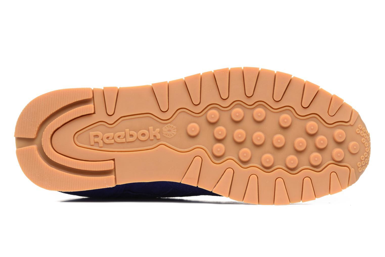 Baskets Reebok Cl Leather Tdc Bleu vue haut
