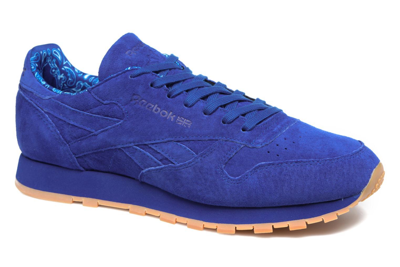 Baskets Reebok Cl Leather Tdc Bleu vue détail/paire