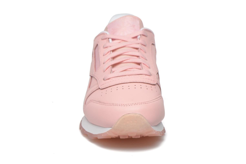 Baskets Reebok Cl Lthr Face Rose vue portées chaussures