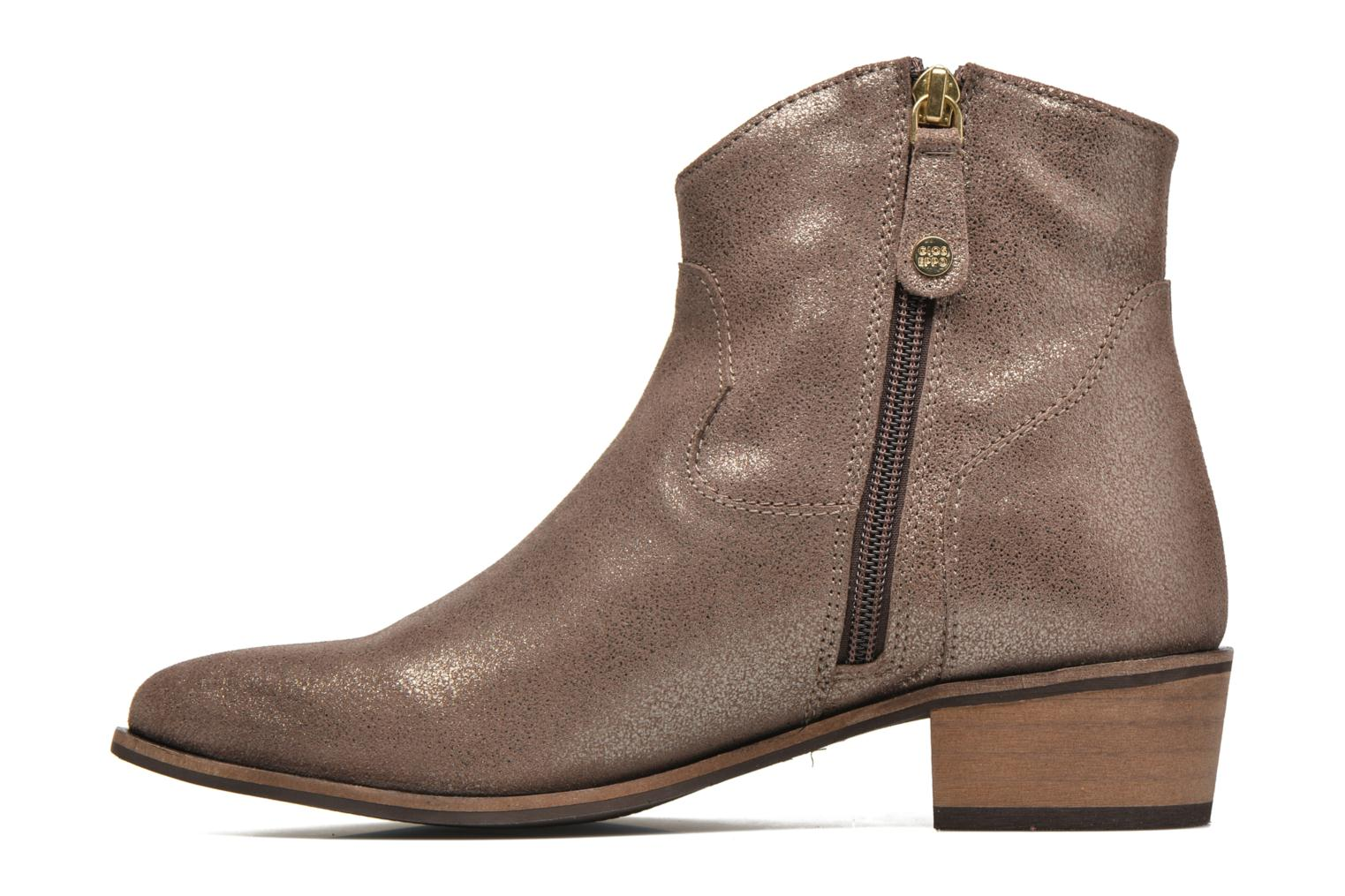 Bottines et boots Gioseppo Yell Or et bronze vue face