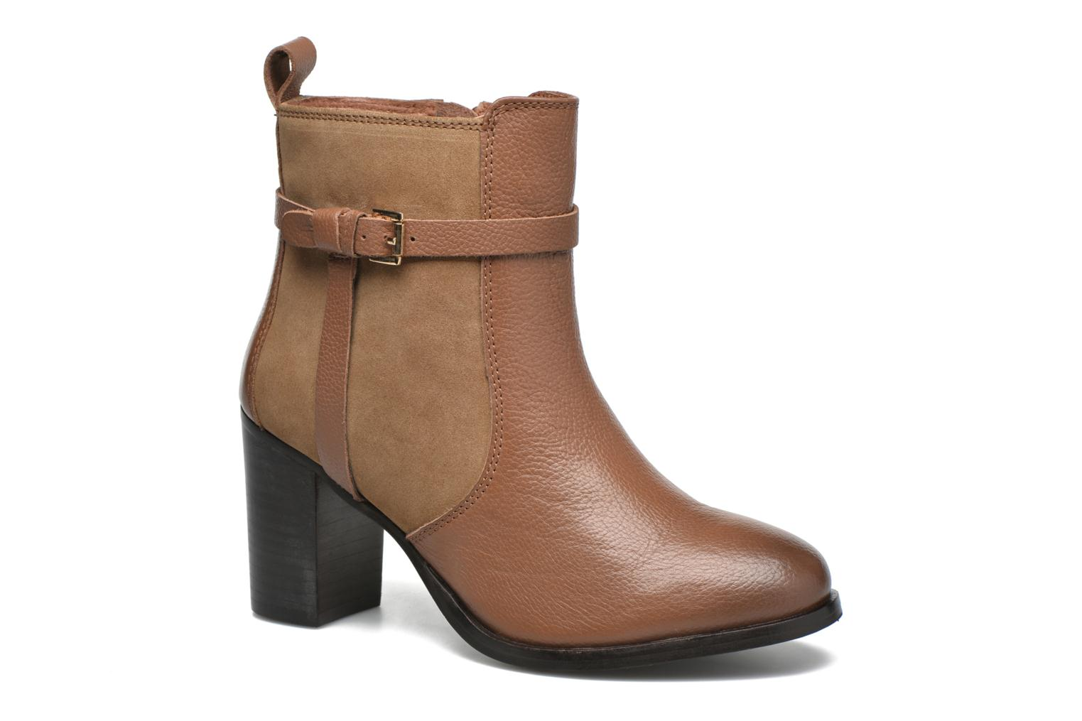 Ankle boots Gioseppo Bogalusa Brown detailed view/ Pair view