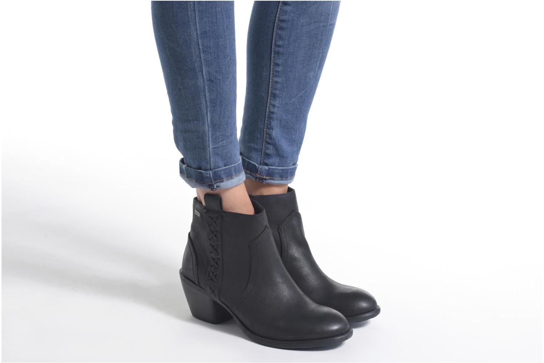 Bottines et boots MTNG Ellen Noir vue bas / vue portée sac