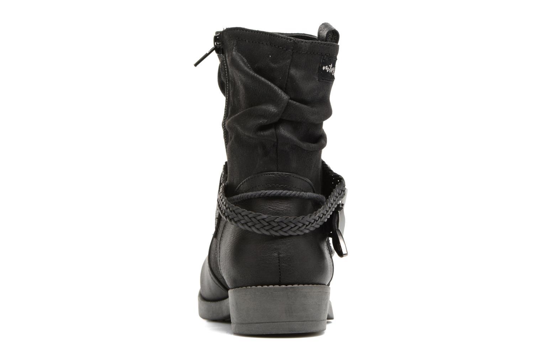 Bottines et boots MTNG Fausta Noir vue droite