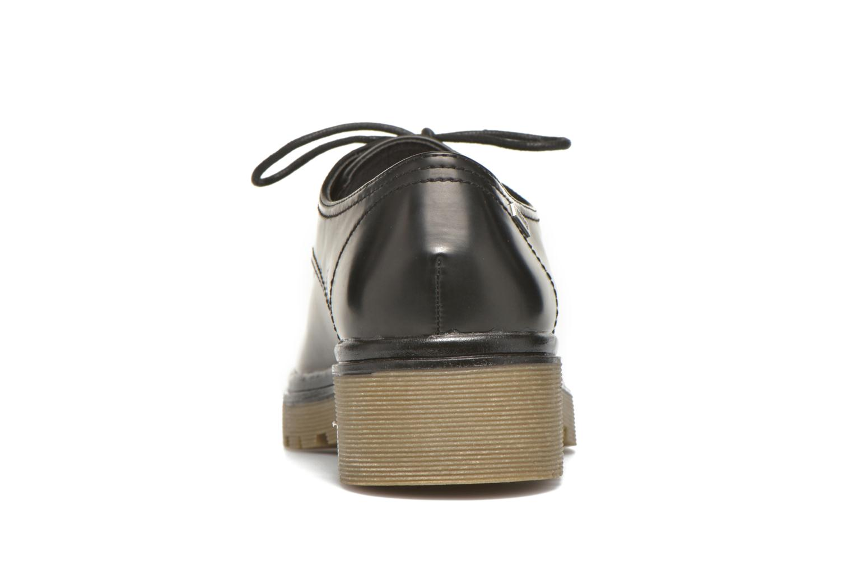 Zapatos con cordones MTNG Erik Negro vista lateral derecha