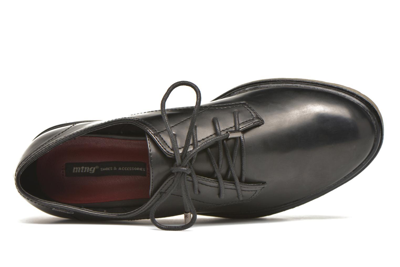 Zapatos con cordones MTNG Erik Negro vista lateral izquierda