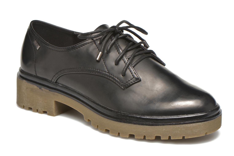 Chaussures à lacets MTNG Erik Noir vue détail/paire
