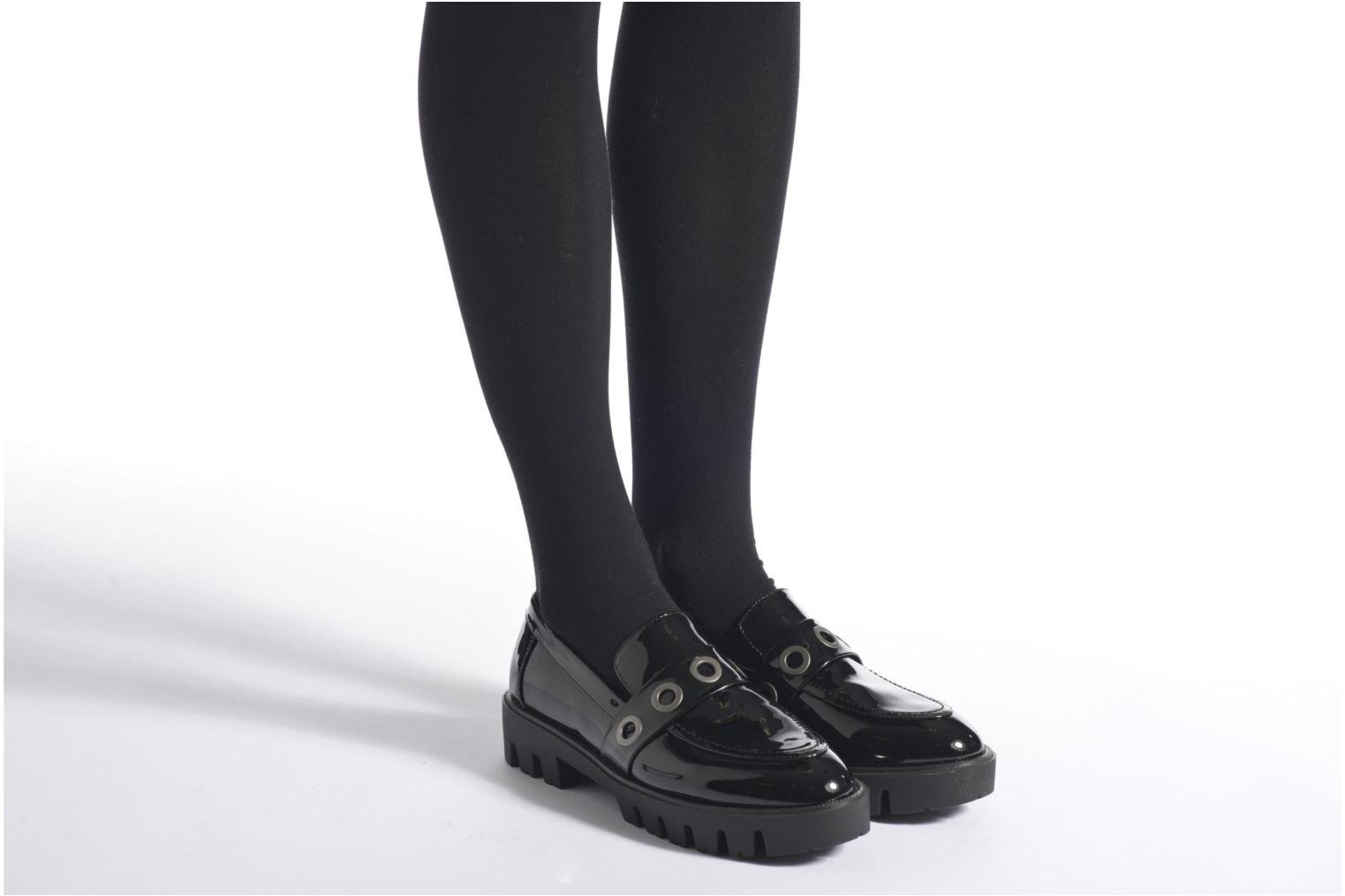 Loafers Sixty Seven Emma Black view from underneath / model view